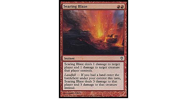 Searing Blaze X1 Worldwake *EX//VG* Magic the Gathering MTG R