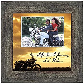 Motorcycle, Harley Davidson, Picture Frame, Landscape, Lets Ride Sky 6503LRLand Personalized 10x10 9764BW