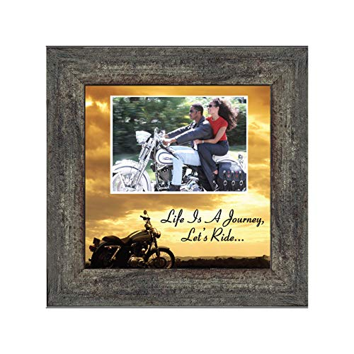 Motorcycle, Harley Davidson, Picture Frame, Landscape, Lets Ride Sky 6503LRLand Personalized 10x10 - Motorcycle Wood Photo Frame