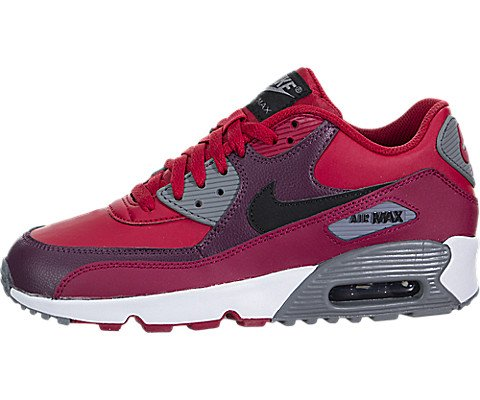 detailed pictures a48af 5d96d Galleon - NIKE Air Max 90 LTR Gym Red Black-Noble Red (Big Kid) (5.5 M US  Big Kid)