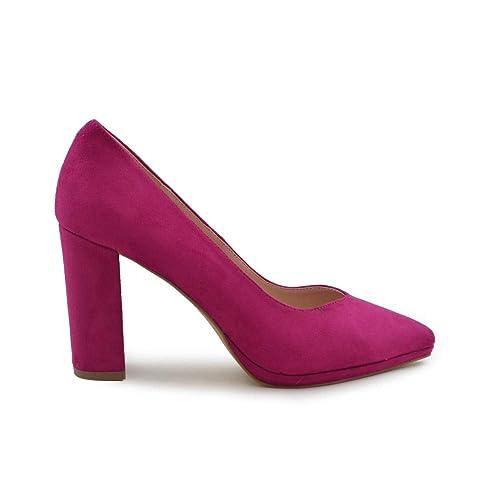 precio de fábrica d6437 989bd Zapato de salón tacón Ancho Fucsia