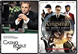 Kingsman: The Secret Service DVD & Casino Royale 007 James Bond Spy Bundle Move Set