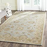 Safavieh Antiquities Collection AT856B Handmade Traditional Oriental Light Blue and Sage Wool Area Rug (2' x 3')