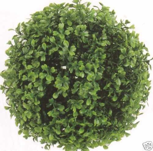 Silk Tree Warehouse Two 6 Inch Outdoor Artificial Boxwood Topiary Balls Uv Rated Potted Plants