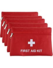 MTGHYAYA Small First Aid Kit Bag Empty, First Aid Bag Pouch Compact Survival Medicine Bag for Home Office Car Businesses Camping(Empty Bag) (5 Pack, 1680D, 7.9*5.5Inch)
