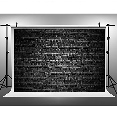 10x6.5ft Black Stone Wall Photography Backdrop Cotton backdrops Brick Wall Party Photo Background for Photo Studio Props CHK-332993660-B