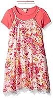 Speechless Girls' Big Floral Slip Dress with Choker, Mint/Red, 7