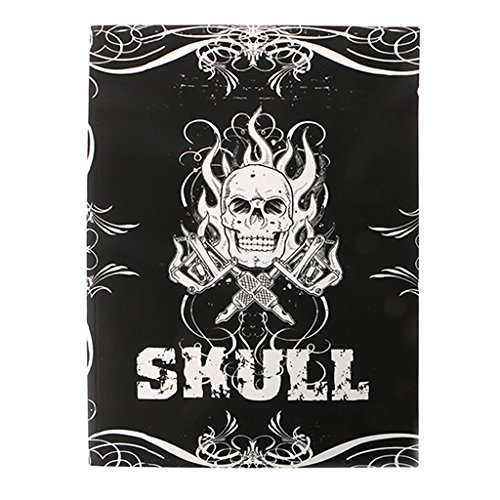 SYlive Tattoo Book 76 Pages Skull Sketch Design Flash Tattoo Art Microblading Supply A4