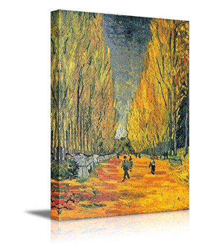 The Allee of Alyscamps (Les Alyscamps 1888 ) by Vincent Van Gogh Print Famous Painting Reproduction
