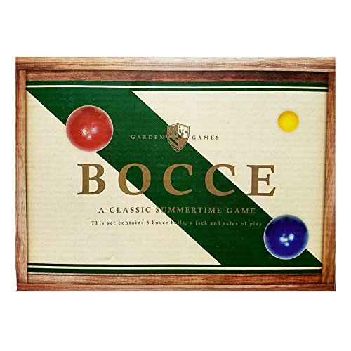 Bocce Ball- 6 balls 1 wooden jack by T Goods
