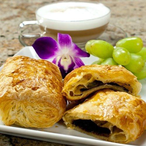 Chocolate Croissants (Pain au Chocolat) - 3.25 oz, Frozen, Unbaked - 2 dozen - 24 count by Gourmet Food World (Image #2)