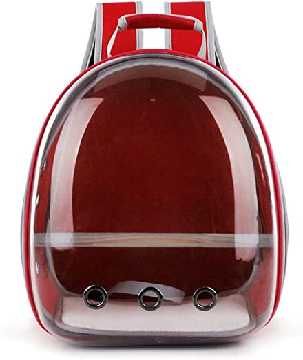 Dayloveme Pet Carrier Parrot Bird Travel Bag Space Capsule Transparent Backpack Breathable 360 Sightseeing