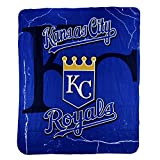 "MLB Officially Licensed Kansas City Royals Lightening Style Fleece Throw (50"" X 60"")"