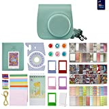 Fujifilm Instax Mini 9 Accessory Bundle - 14 in 1 Kit with Close Up and Color Filters, Photo Album, Colorful Picture Frames, Ice Blue Camera Case and Removable Strap (Ice Blue)