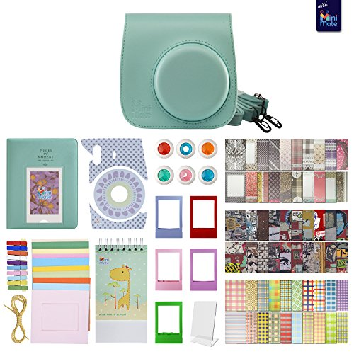 Film Sheet Holder (Fujifilm Instax Mini 9 Accessory Bundle - 14 in 1 Kit with Close Up and Color Filters, Photo Album, Colorful Picture Frames, Ice Blue Camera Case and Removable Strap (Ice Blue))