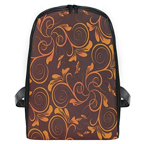 Orange Flower School Backpack For Boys Kids Primary School Bags Children Backpacks