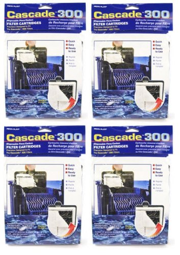 Penn Plax 12-Pack Cascade Filter Replacement Cartridges for 300 Hang-On Power Filters