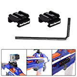 Fantaseal® Aluminum Alloy Toy Gun Rail for Nerf to Picatinny Toy Gun Rail Adapter Mount 18mm-21mm Hardpoint MOD Kit Nerf Toy Guns Attachment Nerf Toy Gun Accessories Nerf Toy Gun Mount Air Soft Toy Gun Mount for Nerf Blaster Standard Military Tactical Gear Scope Sight Led Flash Light Night Vision Device etc (2 pcs)