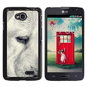 PC/Aluminum Funda Carcasa protectora para LG Optimus L70 / LS620 / D325 / MS323 Black White Retriever Muzzle Snout Dog / JUSTGO PHONE PROTECTOR