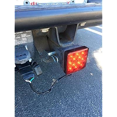MAXXHAUL 70429 Trailer Hitch Cover with 12 LEDs Brake Light: Automotive
