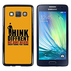 Stuss Case / Funda Carcasa protectora - Thoughts Different Quote Belief Mind - Samsung Galaxy A3 SM-A300