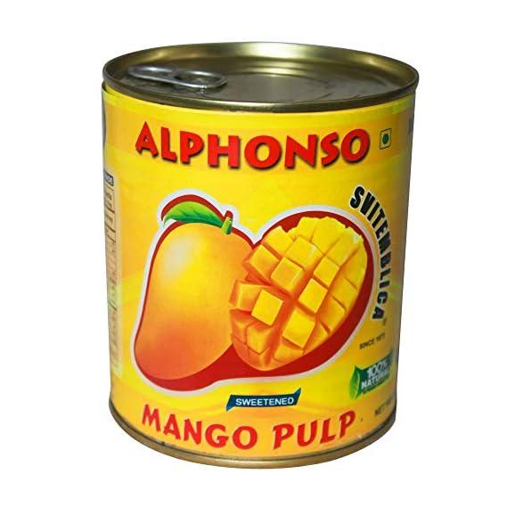 Svitemblica Alphonso Mango Pulp 850g (Pure Ratnagiri Alphonso)