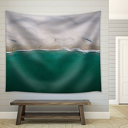 Tropical Beach White Sand Fabric Wall