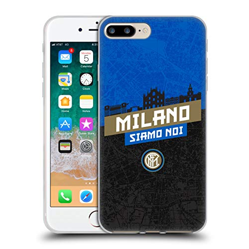 - Official Inter Milan Milano Siamo NOI 2018/19 Typography Soft Gel Case for iPhone 7 Plus/iPhone 8 Plus
