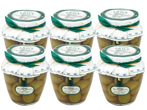 Bella di Cerignola Olives by DeCarlo (Case of 6 - 580 Gram Jars)