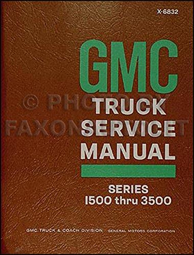 1968 GMC 1500-3500 Truck & Van Repair Shop Manual Original