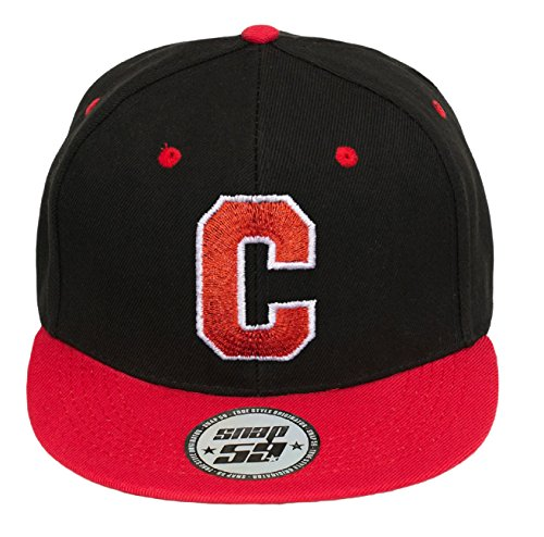 con C 4sold a rojo Z Snapback blanco en Cap Abc Cap Letter A Baseball letras w16fzx1qg4