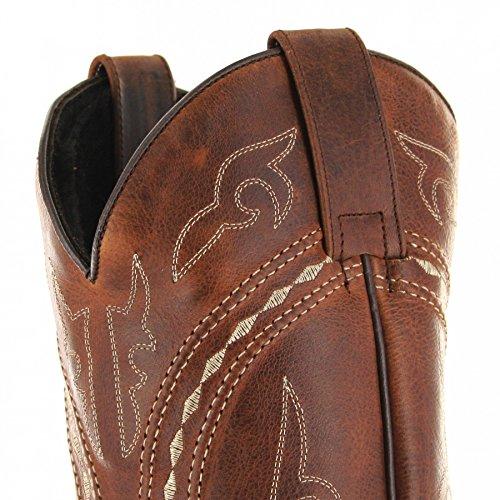 Sendra Boots 8325 Braun-Tang Herren & Damen Westernreitstiefel Tang