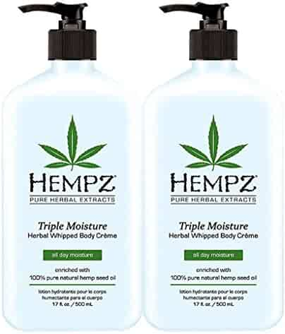 2 BOTTLES OF Hempz Herbal Moisturizer Triple Moisture 17 oz NEW 2014
