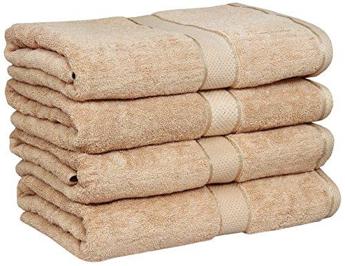 Premium Large Bath Cotton Towels Pack Champaign - 100% Cotto