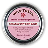 Concentrated Herbal Dry Skin Moisturizer. Dry Skin Remedy Cream for Cracked Heels, Chapped Lips, Cracked Hands & Eczema. Deep Moisturizer with Olive Oil, Shea Butter, Coconut Oil & Cocoa Butter.