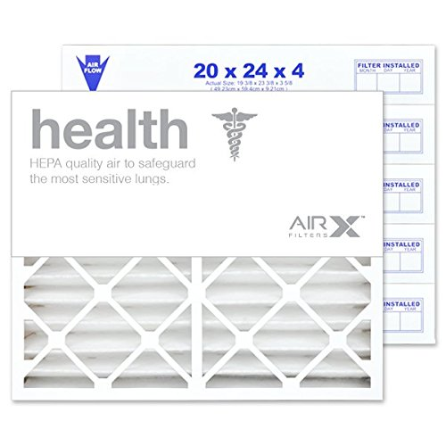 "20"" X 24"" X 4"" MERV 13 Pleated Furnace Filter, 6-Pack"
