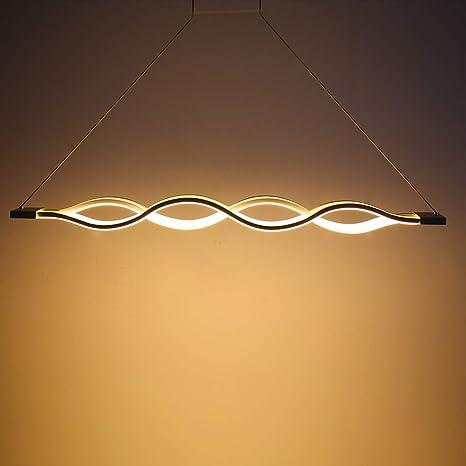 de LED Iluminación Techo OnduladaLámpara Techo Araña Comedor Lineal Colgante de de ModernaLámpara 3000K Lámpara de Colgante Iluminación Simple vfyYb67g