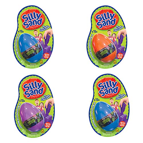 Big Time Silly Sand Molding Wet Dry Sand for Kids - 4 Pack - Assorted Colors
