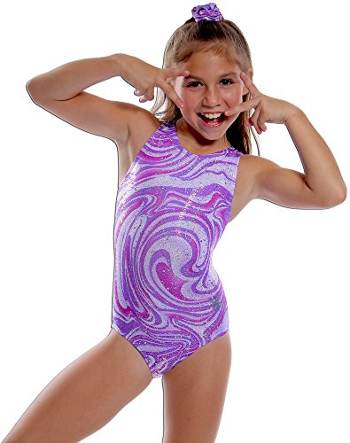 Snowflake Designs Purple Razzleberry Workout Leotard (Child Large)