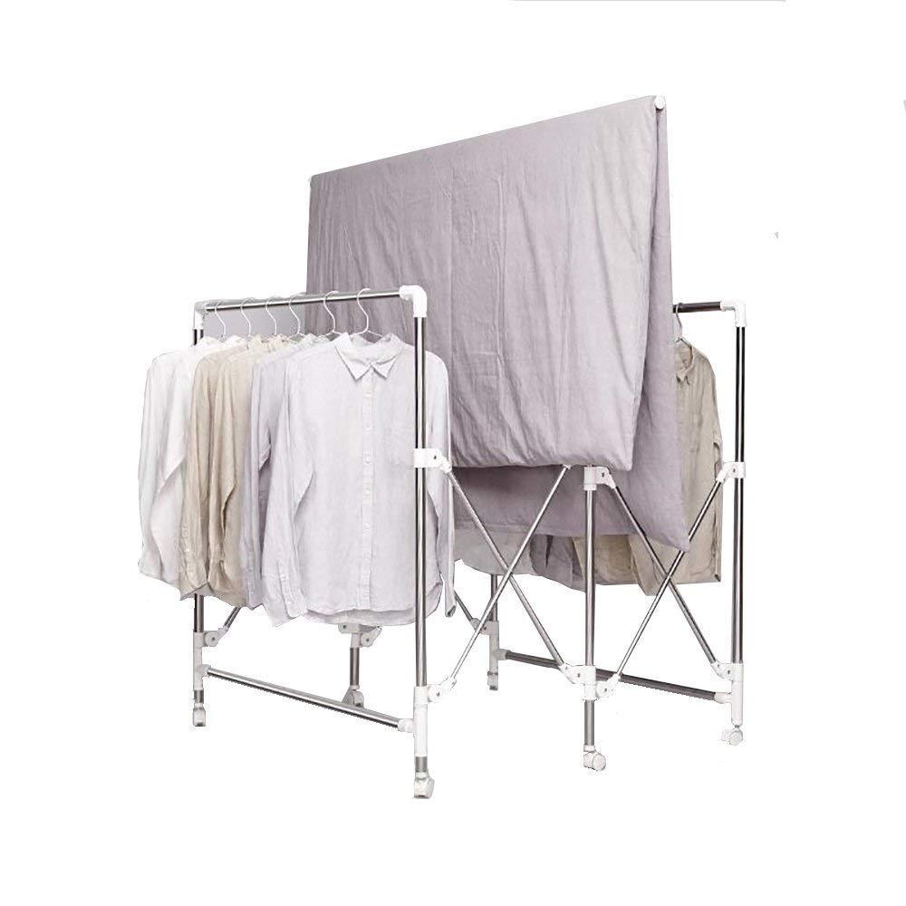 ステンレス製の衣類乾燥ラック - ランドリー - 折りたたみ式、スペース節約、スーパーロードベアリング B07QSTP1SK