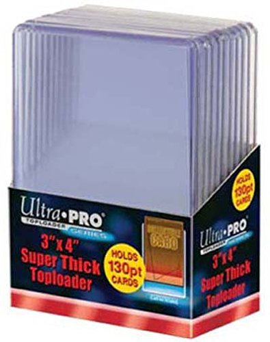 Ultra Pro 5 130pt Top Loader Packs - 10 Toploaders Per Pack (50 Total) - Thick Baseball, Basketball, Hockey, Football Cards (Ie Memorabilia)