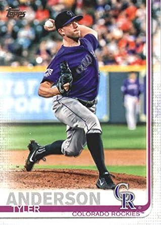 1780b5a42adb5 Amazon.com: 2019 Topps Baseball #2 Tyler Anderson Colorado Rockies ...
