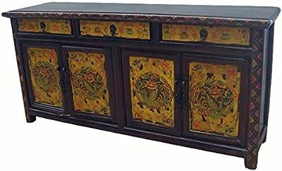 Hand Painted Phoenix Sideboard