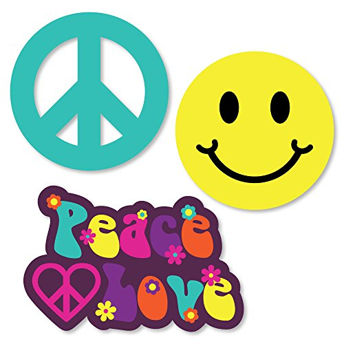 (Big Dot of Happiness 60's Hippie - DIY Shaped 1960s Groovy Party Cut-Outs - 24)