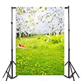 Spring 3x5ft Lfeey Vinyl Photography Background Outdoor Kids Scenic Backdrop 1x1.5m Props For Studio