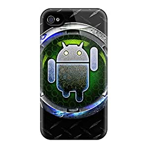Tpu Case Cover For Iphone 4/4s Strong Protect Case - Cyborg Android Design