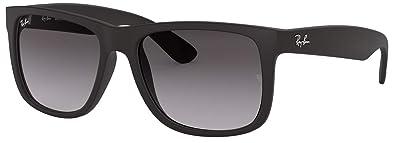 14edc732d7 Ray-Ban RB4165 601 8G Justin Unisex Sunglasses Black Frame   Gray Gradient  Lens
