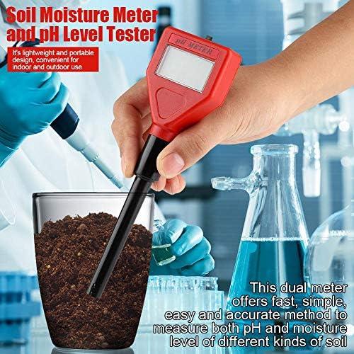 Mootea Soil PH//Moisture Meter Tester Long Water Quality Plants Hydroponics Analyzer