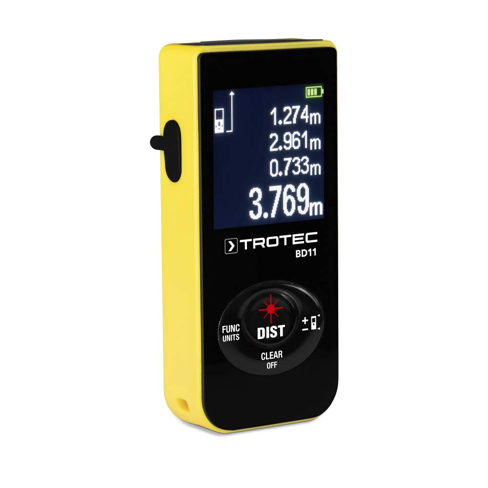 TROTEC BD11 Laser Entfernungsmesser, Distanzmessgerät (Messbreich 0 ...