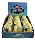 Jurassic World Plastic Easter Eggs with Candy Dinosaurs, 0.75 oz, Pack of 12